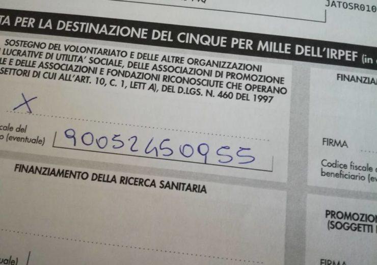 Le istruzioni per donare il tuo 5 x 1000 a Effetto Palla Onlus